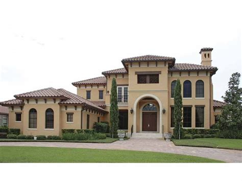 mediterranean house mediterranean modern house plan with 5921 square feet and