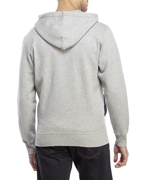 light grey zip hoodie diesel light grey gunter zip up hoodie in gray for lyst