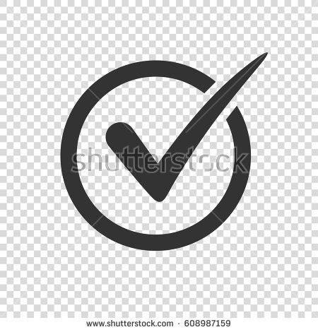 Check Icon Transparent Background Check Icon On Transparent Background Stock Vector 608970017