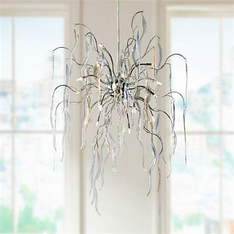 possini design possini design 26 quot wide icicle chandelier 12244 ls plus