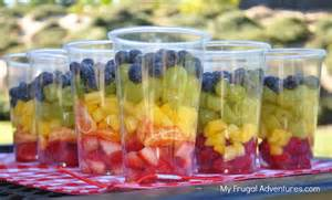 Fruit Cups Rainbow Fruit Cups Healthy Snack For Children My