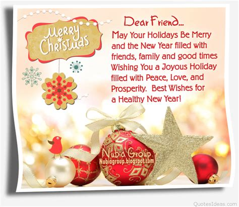 dear friend merry christmas  quote