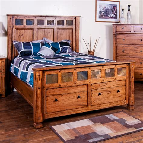 bed w storage king bed w storage in footboard by designs wolf