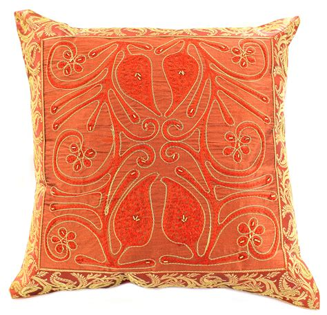 Embroidered Pillow Covers by Ornamental Embroidered Throw Pillow Cover Set Of 2