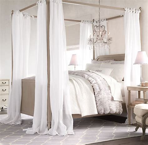 sheer bed canopy sheer belgian linen bed canopy panels set of 2