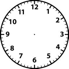 1000 images about clock face templates on pinterest printable clock templates blank clockface without hands