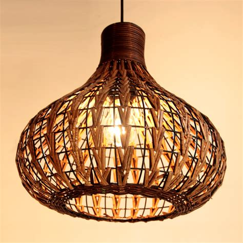 Handmade Ceiling Lights - handmade 14 quot modern rattan ceiling light l living