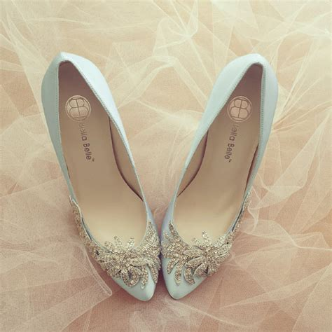 Wedding Shoes Something Blue by Something Blue Wedding Shoes With Vine Applique