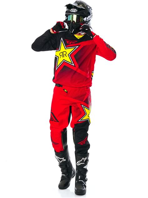 fly racing motocross pantalon motocross fly racing rockstar 2017 kinetic rouge