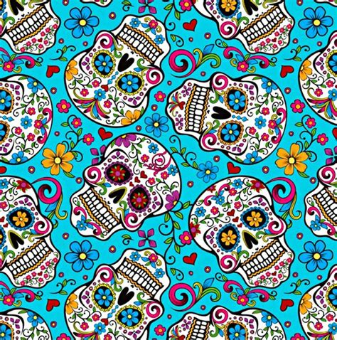 pin up pattern free colors dia de muertos skull im 225 genes pinterest