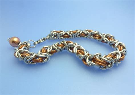 how to make chainmaille jewelry byzantine and box chain maille tutorial