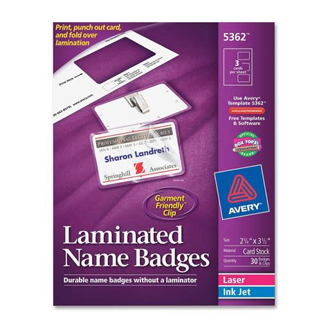 Avery Laminated Id Cards Template by Avery Media Holder Kit Ld Products