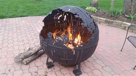 Gas Lamp Grill by An Incredible Steel Star Wars Death Star Ii Fire Pit