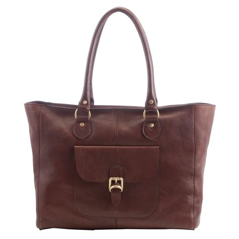 Tote Bag Brown lewis winchester large leather tote bag in brown