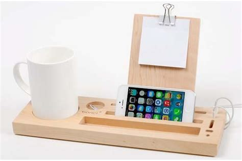 Pen Stand For Desk by The Handmade Wooden Desk Organizer With Phone Stand And