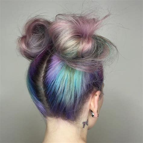 hairstyles space buns bubble effect color with space buns awesome updos