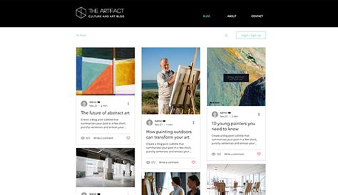 Creative Arts Website Templates Wix 4 Wix Directory Template