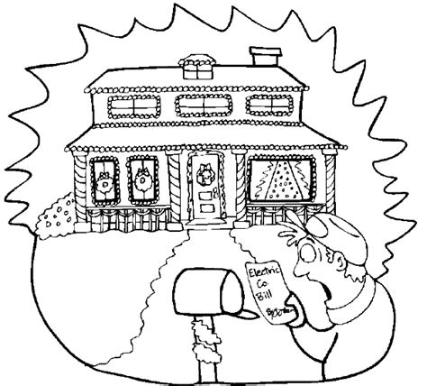decorated house coloring pages christmas lights coloring book page home christmas lites