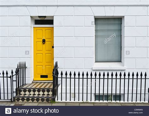 bright yellow door a bright yellow front door in a terrace house in brighton