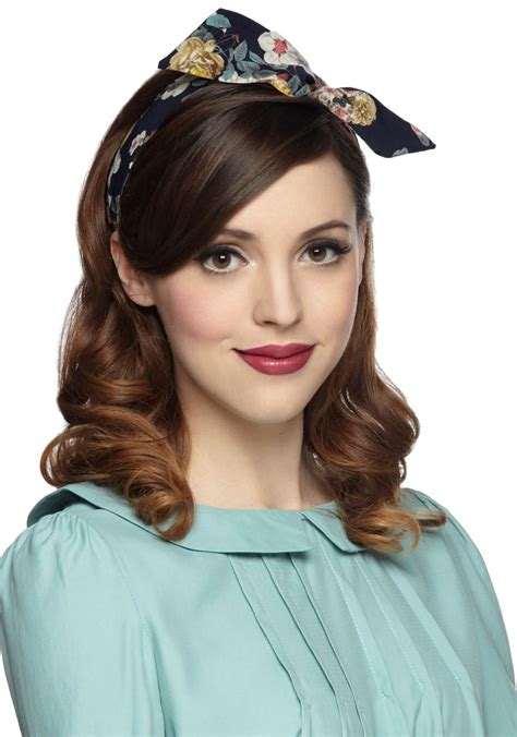 retro hairstyles with headband tutorial through the wire headband in bouquets mod retro vintage