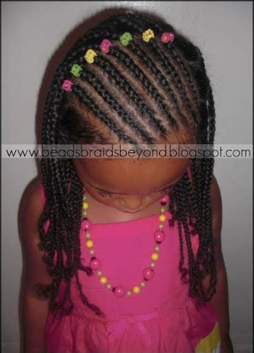 box braids with cornrows in the front natural hair style beads braids and beyond slanted cornrows and natural box
