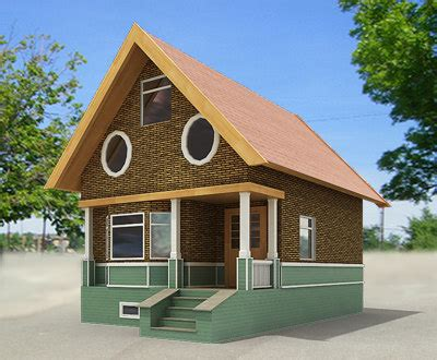 small house model small town house building 3d model