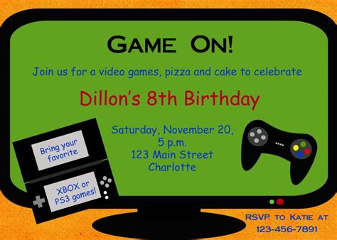 Video Game Party Invitation Template Free Google Search Party Ideas Pinterest Birthday Gaming Invitation Template