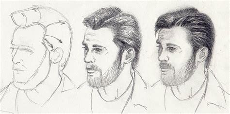 pencil drawing of hair styles of men how to draw hairstyles 5 styles to draw