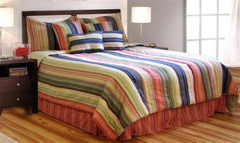 Multi Color Comforter by Multi Color Stripe 8pc King Comforter Bedding Bed Set Ebay