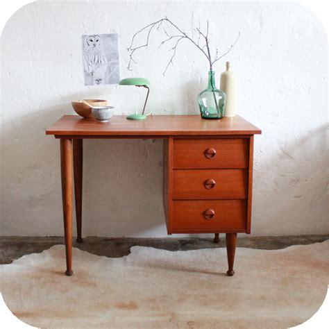 Bureau Vintage Placage Teck Style Scandinave Atelier Du Bureau Vintage Scandinave