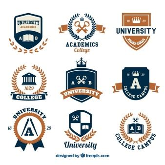 free logo design for university school logo vectors photos and psd files free download