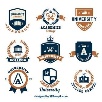 imagenes vectores logos logos escuelas fotos y vectores gratis