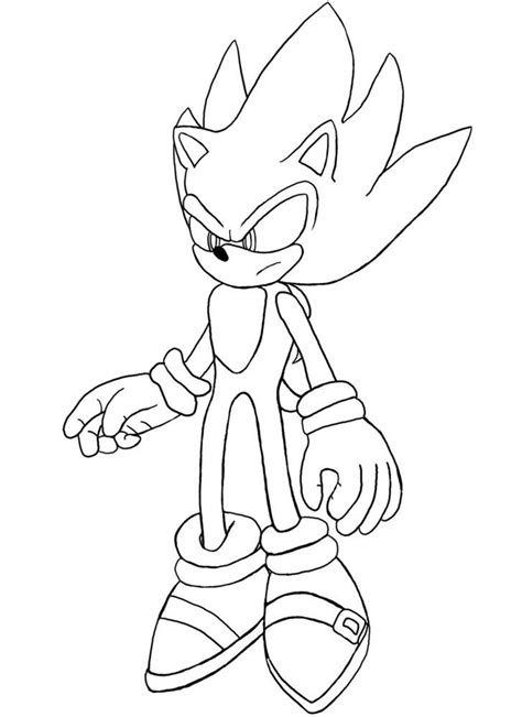 Super Sonic Coloring Pages Coloring Home Extremely Coloring Pages