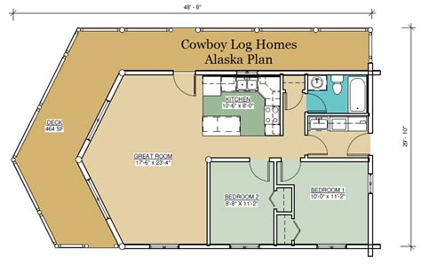 alaska floor plan 888 square cowboy log homes