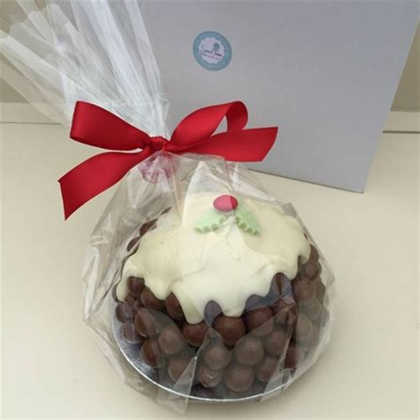 christmas pudding in maltesers design sweet treat gifts