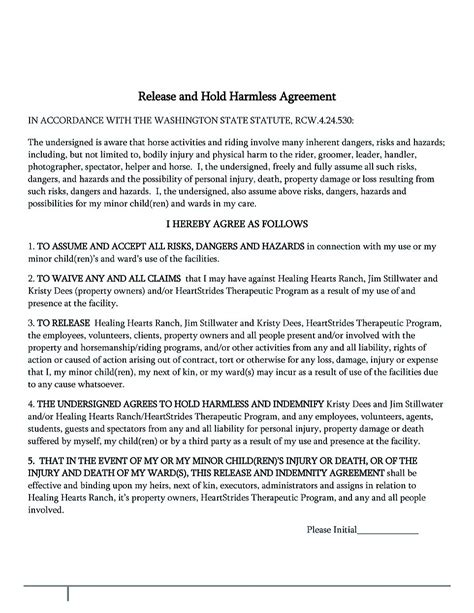 simple hold harmless agreement template hold harmless agreement template for different purposes