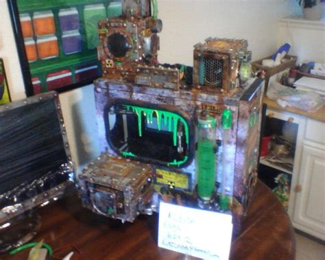 computer case themes custom gaming case with a biohazard meltdown theme this