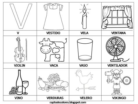 imagenes que inicien con la letra v rayito de colores alfabeto en palabras de la a a la z