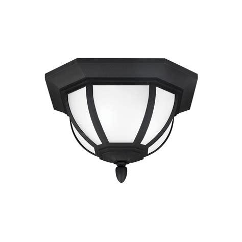 outdoor flush mount motion sensor light hton bay 360 degree square 4 light white motion sensing