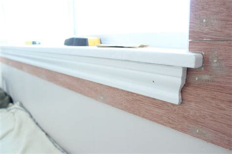 Cutting Window Sill Breakfast Nook Plank Wall Tutorial The Wood Grain Cottage