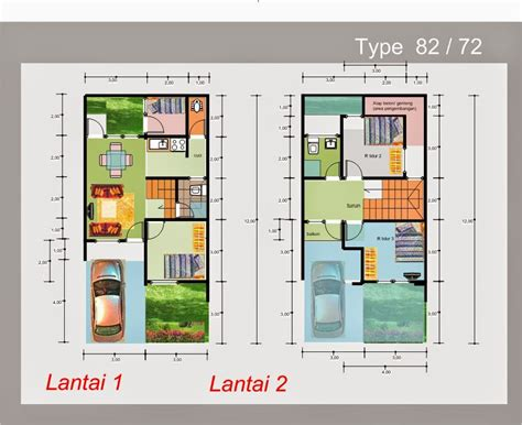 desain rumah minimalis  lantai type  foto desain