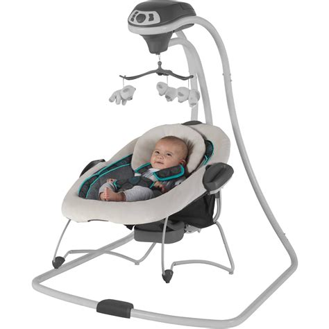 baby swing with detachable seat graco duetconnect swing and bouncer bristol ebay
