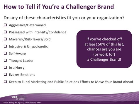 are you a challenger brand