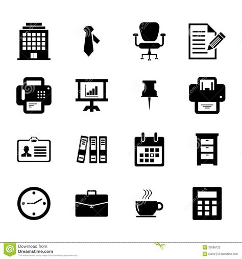 icon design office office icon stock photo image of coffee electronic