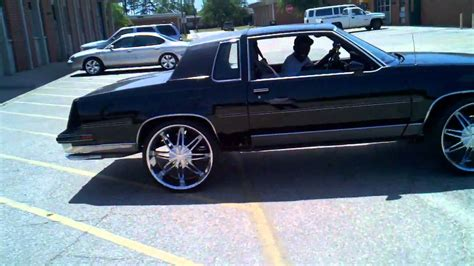 blacked out oldsmobile cutlass on 24 irocs 1987 cutlass on 24 s in eufaula al for sale