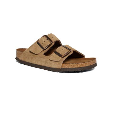 birkenstock boots mens birkenstock arizona soft footbed two band suede sandals in