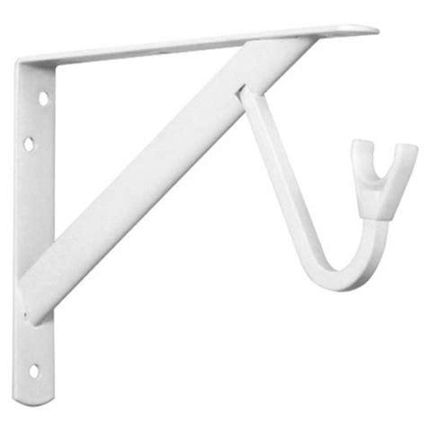 Heavy Duty Closet Rod Brackets by Closet Pro Hd Heavy Duty Shelf Rod Bracket White By