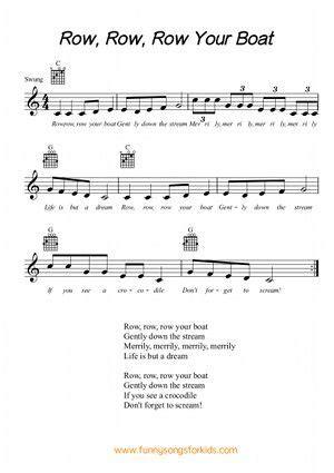row row row your boat lyrics little baby bum row row row your boat free sheet music from funny songs
