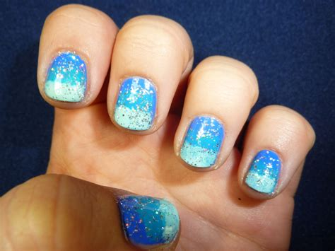 Extremely Easy Nail by Blue Ombre Nails For Summer Easy Nail Tutorial