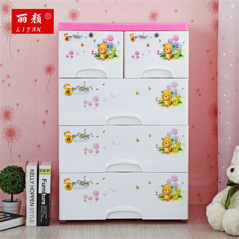 Lemari Pakaian Bayi puzzle cabinets drawers with lock 4 layers hulaki